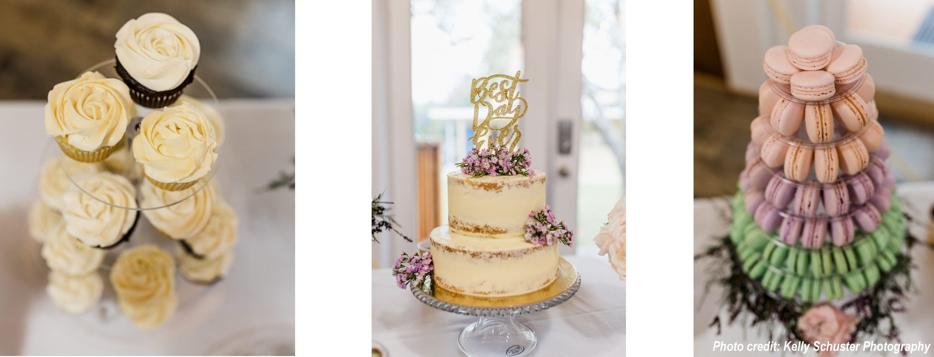Wedding Cakes and Macarons Towers