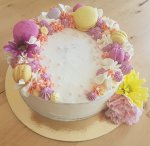 Flower Vanilla Celebration Cake