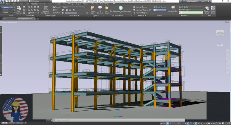 Autodesk Advance Steel 2019 For Sale