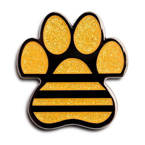 ADIDAC: All Day I Dream About Cats Gold Glitter Pin