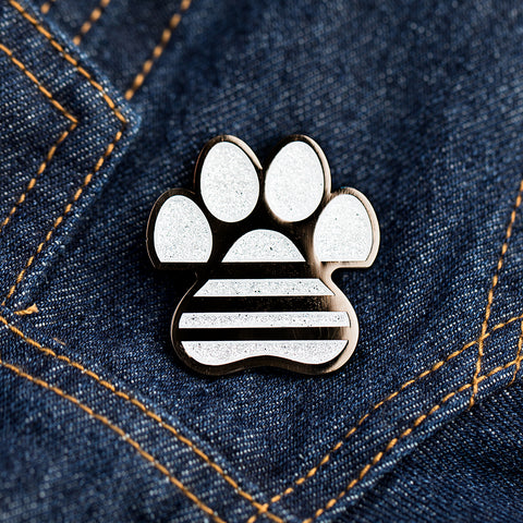 ADIDAC: All Day I Dream About Cats Silver Glitter Pin