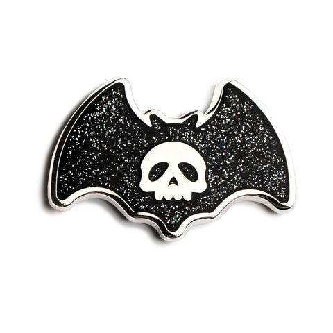 Bat Skull Pin: Black