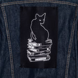 Last Chapter Cat on Book: back patch