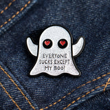 White Boo Pin