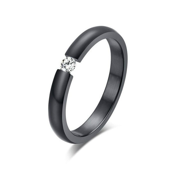 Brilliant Austrian Zircon Wedding Ring - Brilliant Virtue