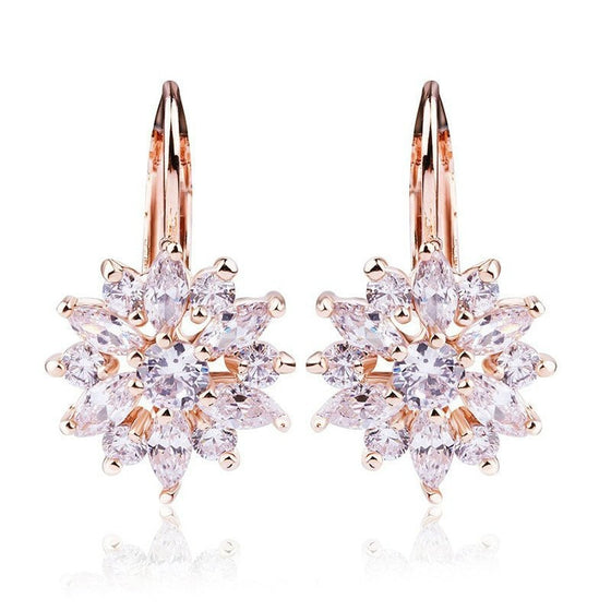 Champagne-Colored Zircon Stud Earring - Brilliant Virtue