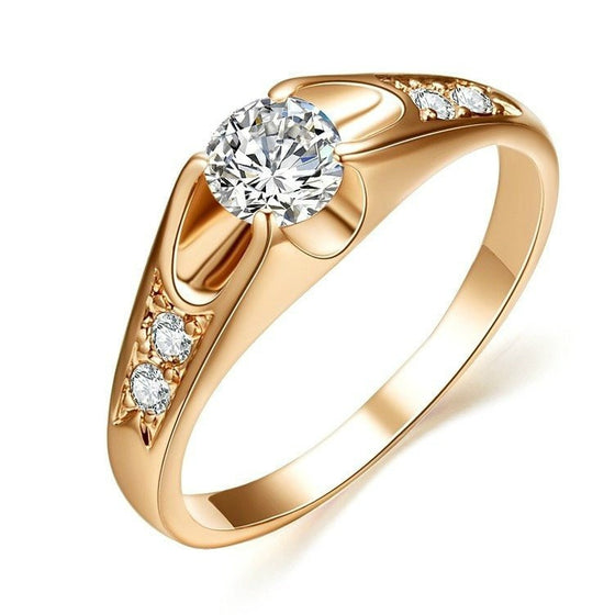 Luxurious Prong Setting Twist Ring - Brilliant Virtue