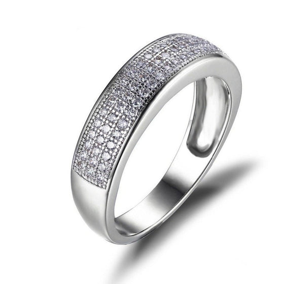 3 Row Channel Set Eternity Ring - Brilliant Virtue
