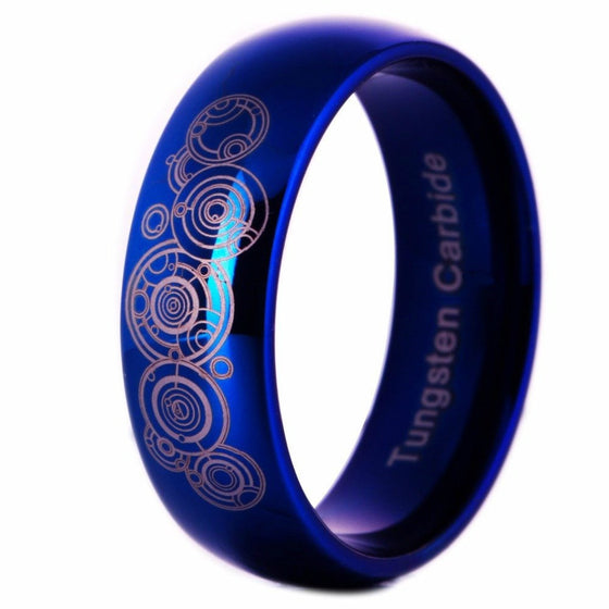 Awesome Shiny Blue Dome Ring - Brilliant Virtue