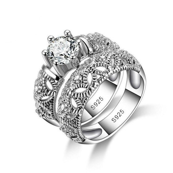 Tantalizing Vintage Double Ring - Brilliant Virtue