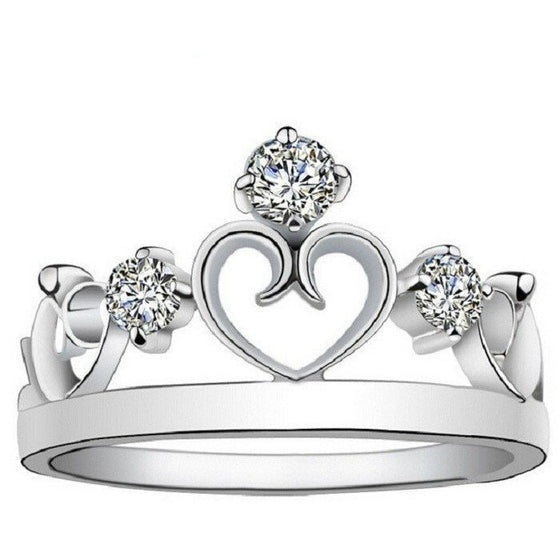 Unique Crown With Crystals Ring - Brilliant Virtue