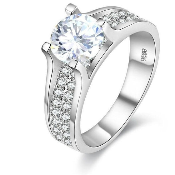 Charming White Stone Classic Ring - Brilliant Virtue