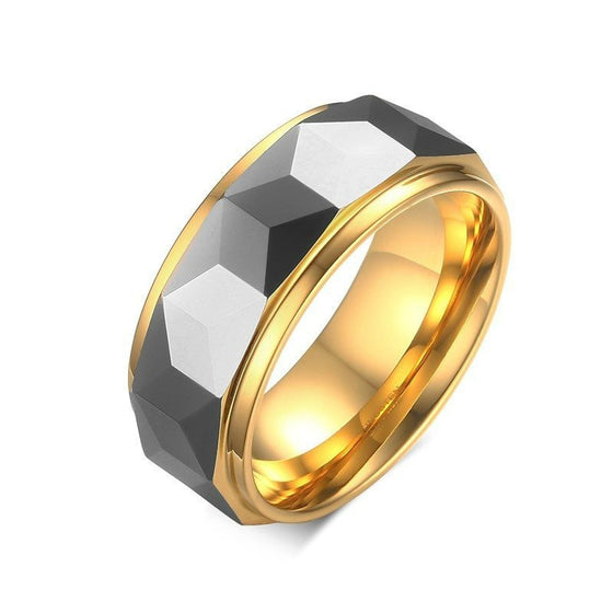 Custom Rhombus Cut Men's Ring - Brilliant Virtue