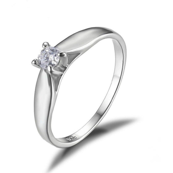 Lovely Solitaire Minimalist Ring - Brilliant Virtue