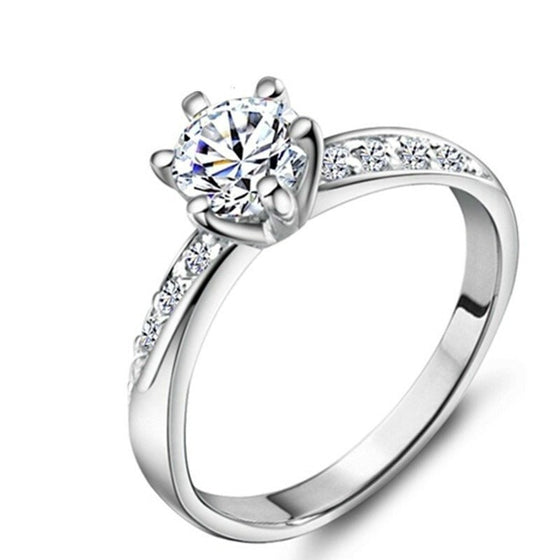 6 prong solitaire Ring - Brilliant Virtue
