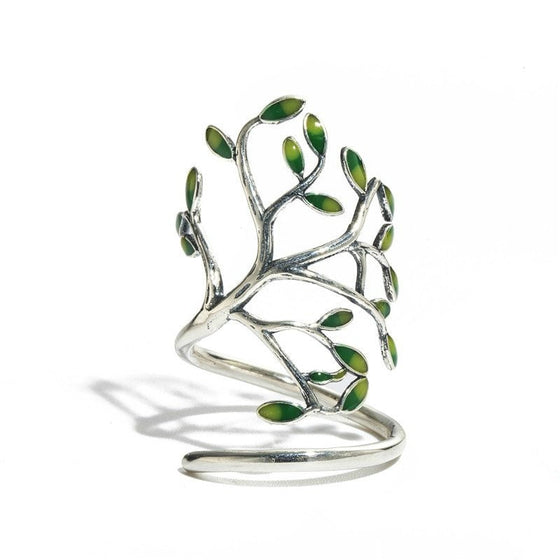 Handmade Tree-shaped Sterling Silver Ring - Brilliant Virtue