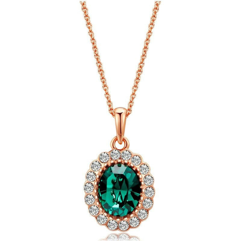Dreamy green crystal gem pendant necklace brilliant virtue aloadofball Gallery