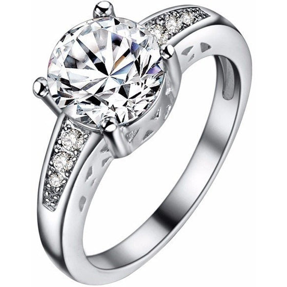 Sophisticated 4 Prong Crystal Ring - Brilliant Virtue
