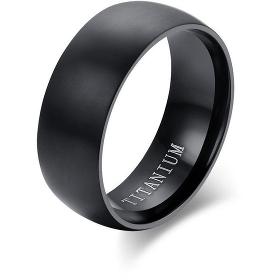 Graceful High Quality Black Titanium Ring - Brilliant Virtue