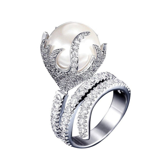 Bold Ultra-Big Synthetic Pearl Ring - Brilliant Virtue