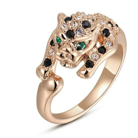Italian Leopard Ring With Crystals - Brilliant Virtue