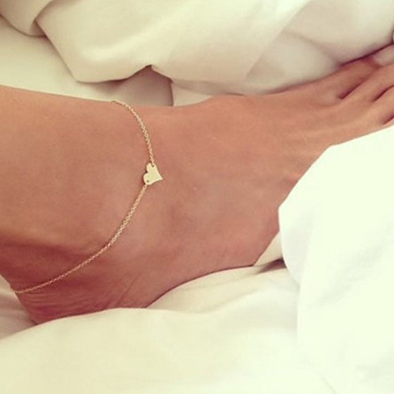 Heart-Shaped Crotchet Anklet - Brilliant Virtue