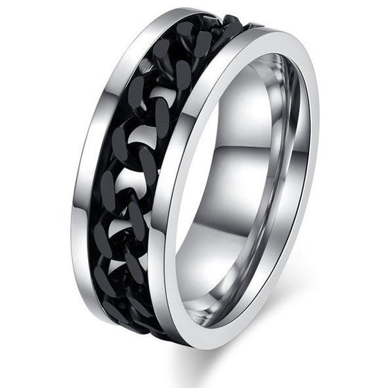 Titanium Spinner Chain Ring - Brilliant Virtue