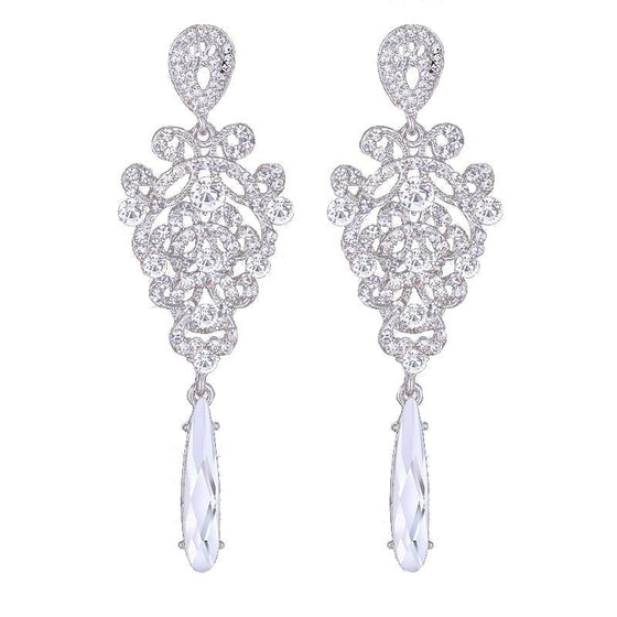 Charming Crystal Long Drop Earring - Brilliant Virtue