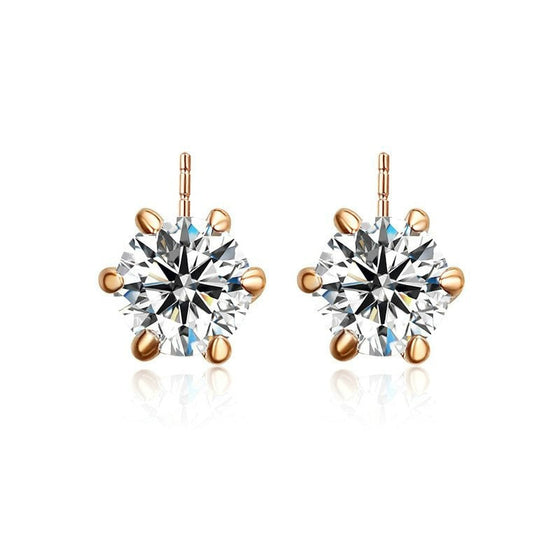 Dazzling 6 Prong Stud Earring - Brilliant Virtue