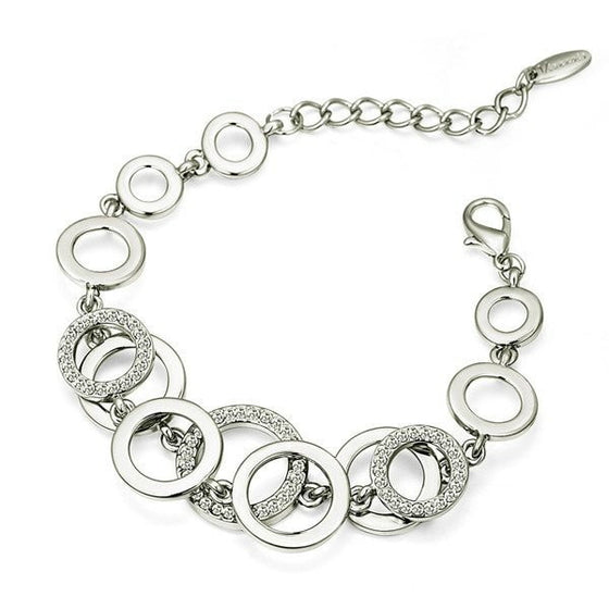 High Quality Silver Circles Bracelet - Brilliant Virtue