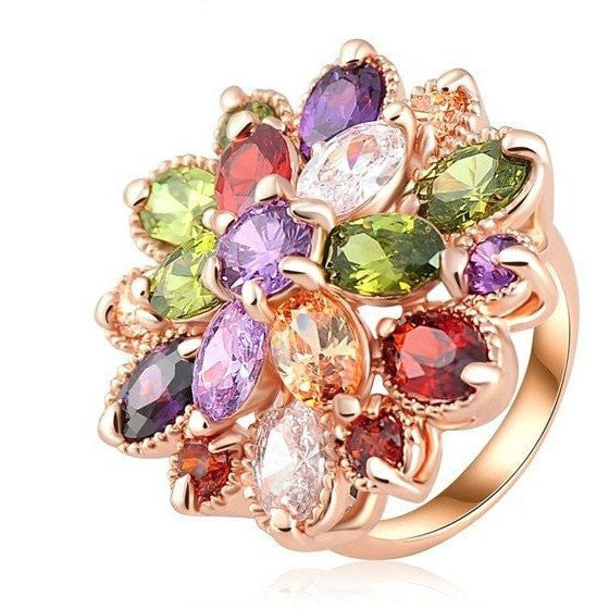 Colorful Gemstone Fashion Ring - Brilliant Virtue
