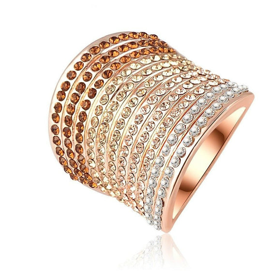 Magical Multi-Layered Color Crystal Ring - Brilliant Virtue