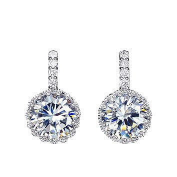 Alluring White Gold Crystal Stud Earring - Brilliant Virtue