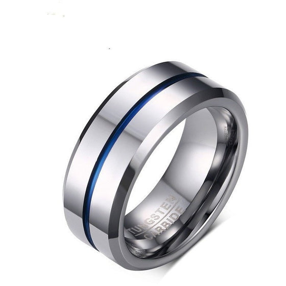 Masterpiece Tungsten Silver Ring - Brilliant Virtue