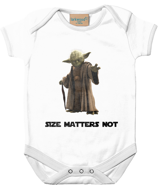 Starwars Baby Onesie - Size Matters Not - Royal Steampunk