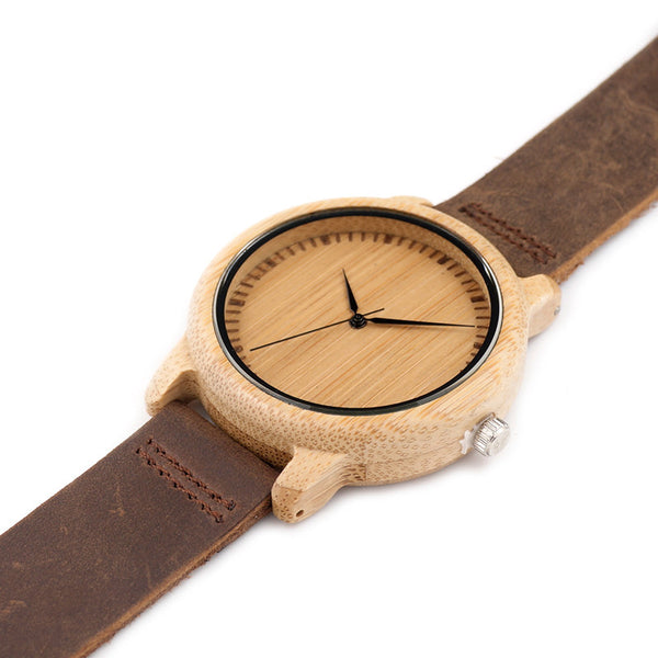 Exclusive Bamboo Wood Watch - Royal Steampunk