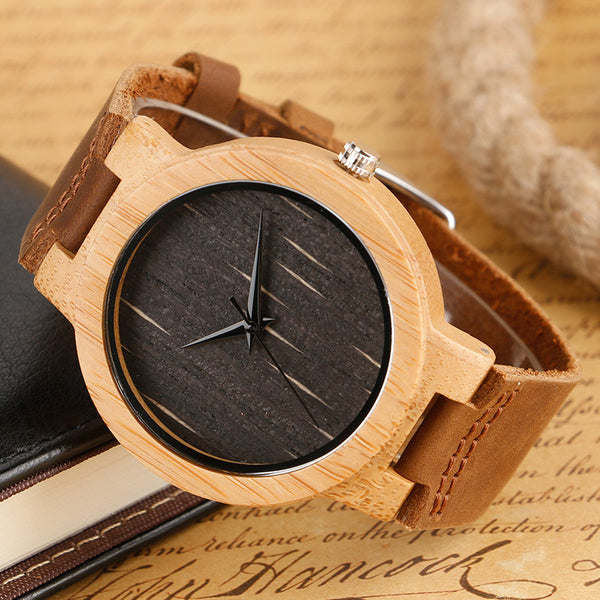 Stylish Bamboo Wooden Watch - Royal Steampunk