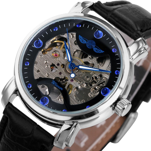 Blue Lagoon Skeleton Watch - Royal Steampunk