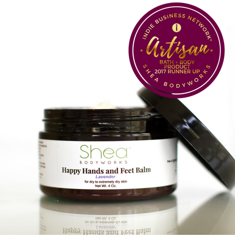 Shea BODYWORKS Happy Hands and Feet Balm was Recognized by Indie Business Network