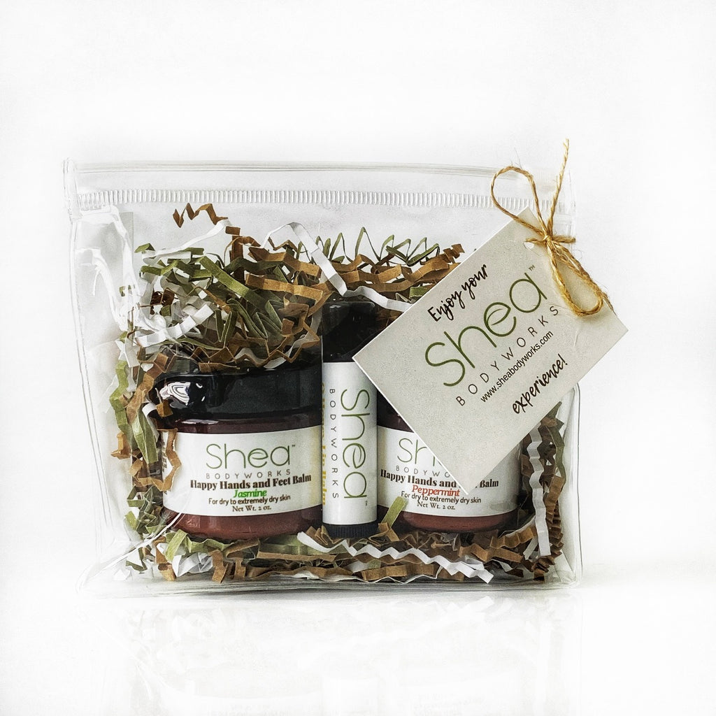 Gift Set - Jasmine & Peppermint Happy Hands and Feet Balm & O Honey lip Balm