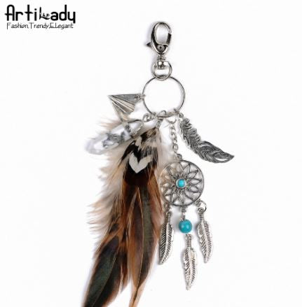 Feather Fashion keychain for women