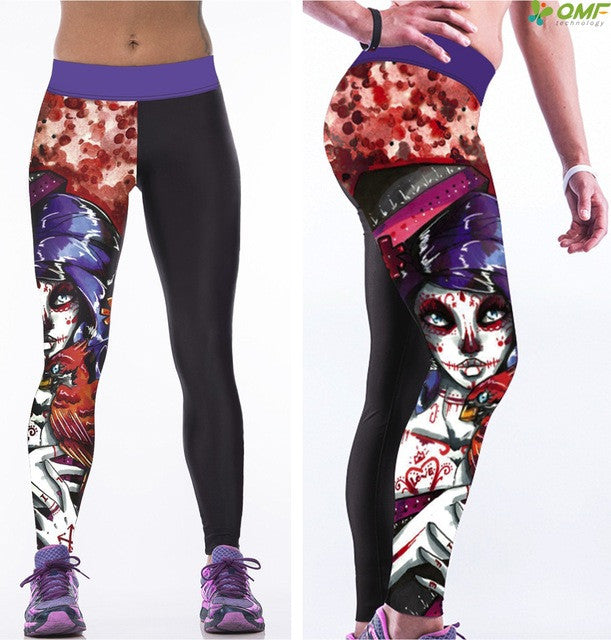 Sugar Skull Yoga Leggings ST1