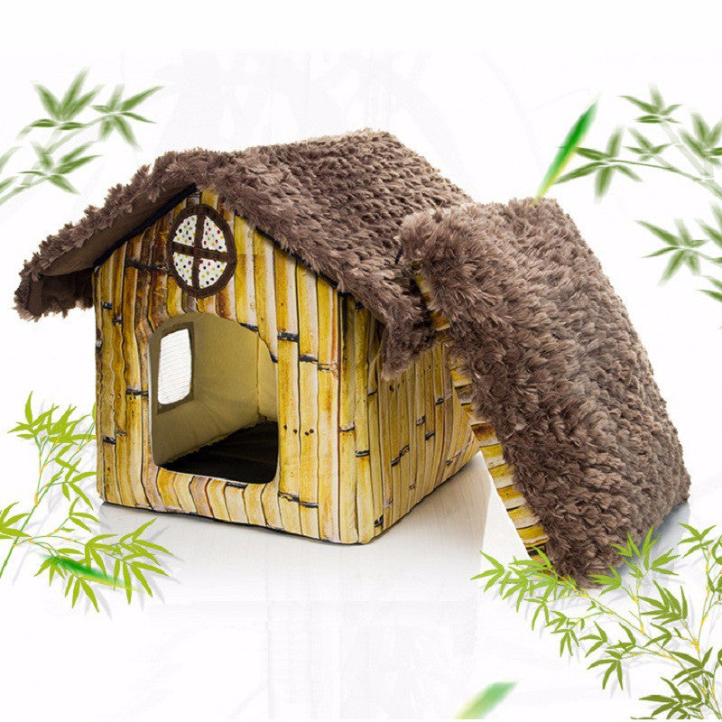 Dog Bed or Cat Bed Sleeping House Soft Pet