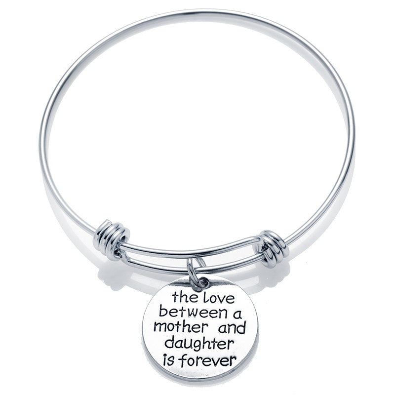 "A Mother And Daughter Is Forever""Pendant Bracelet"