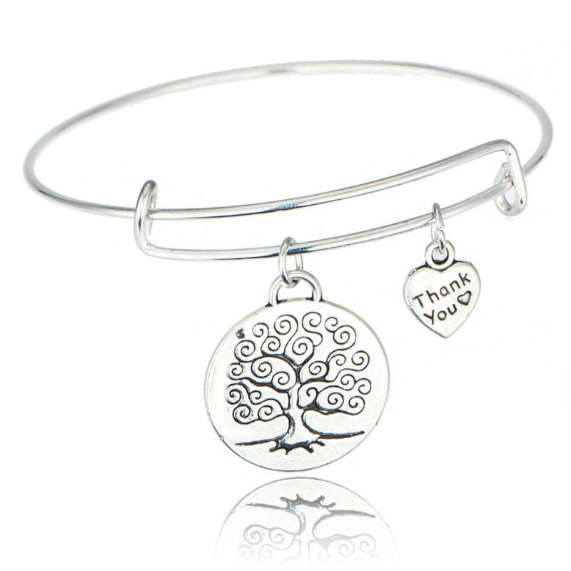Life Tree Heart Bracelet Love Forever