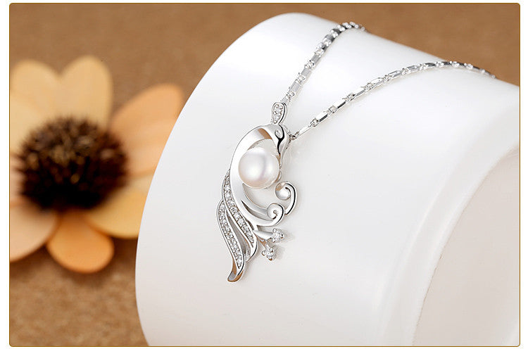 White Gold Plated Simulated Pearl Necklaces & Pendants