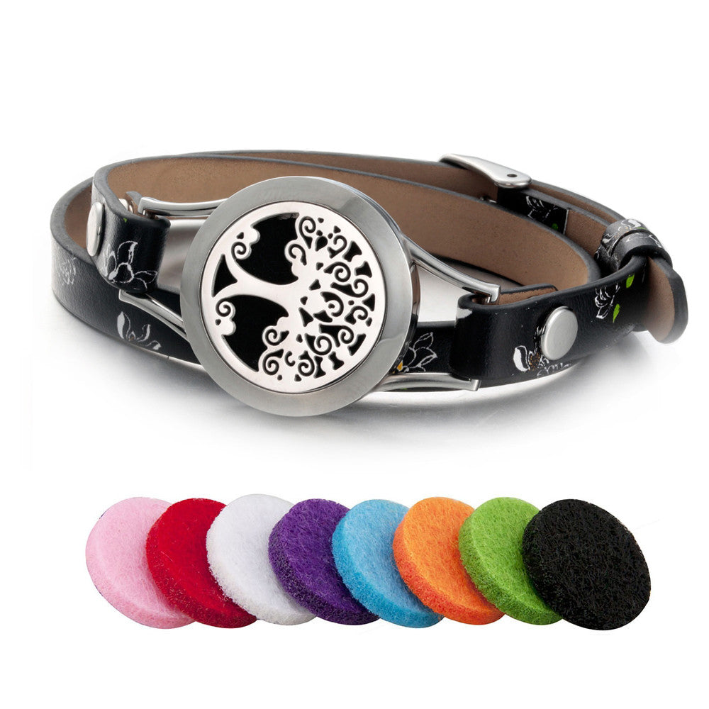 Real Leather Tree of Life Bracelets For Women