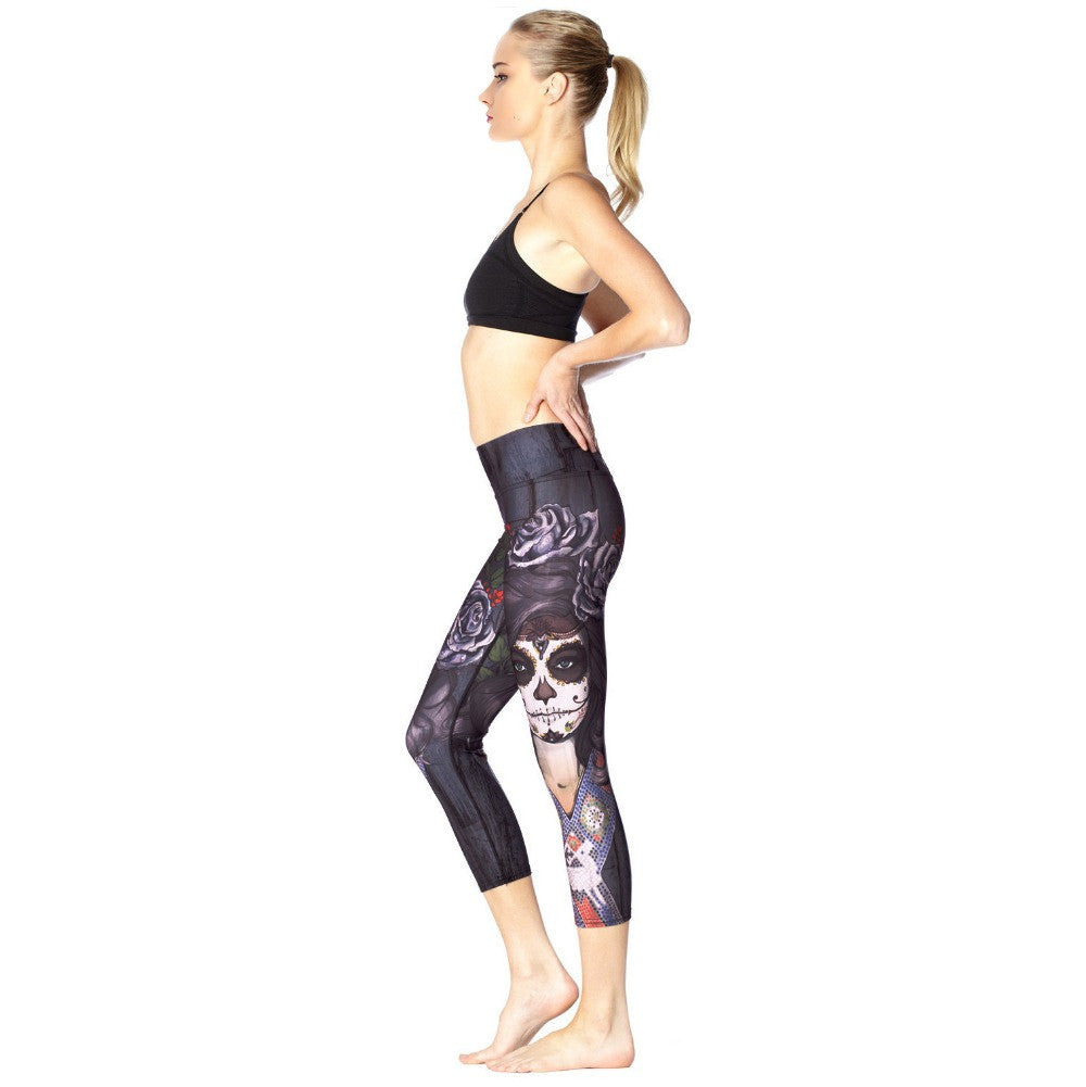 Skull Lady Work out Leggings