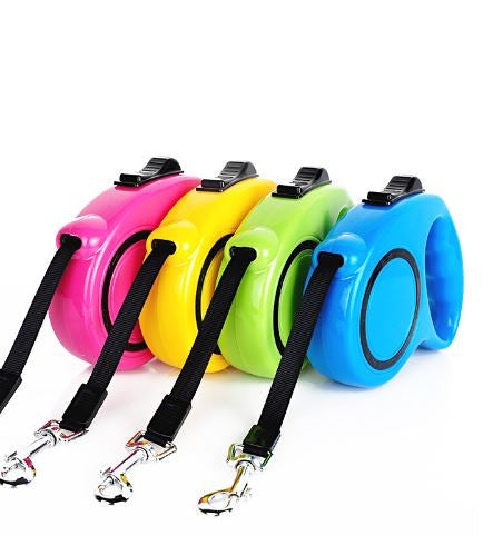 Retractable Dog Leash Lead One-handed Lock