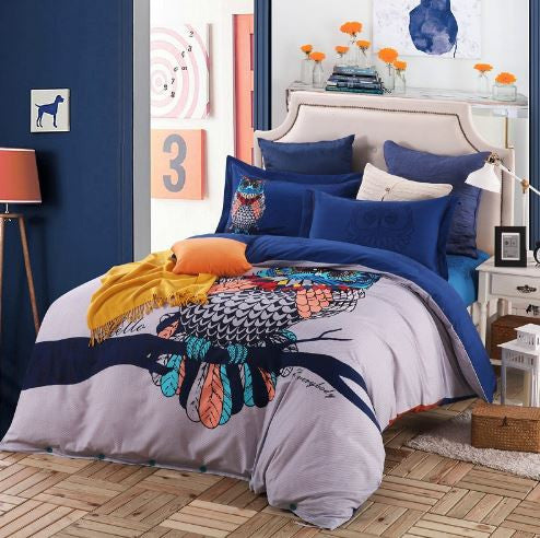 Birds Printed Bedding Set